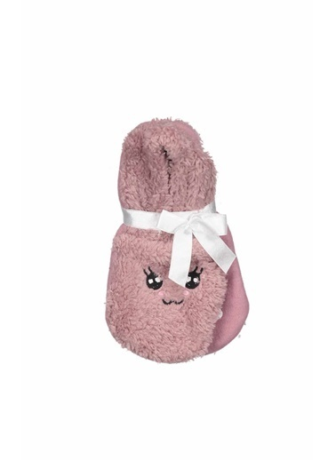 Collezione Collezione Baskılı Gül Kurusu  Kadın Patik Çorap Bordo